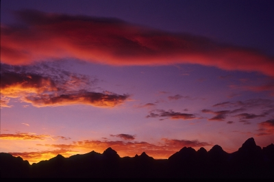 Sunset Over The Tetons