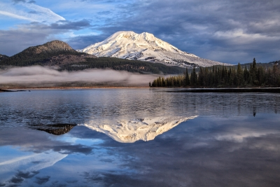 South Sister At Dawn From Sparks Lake