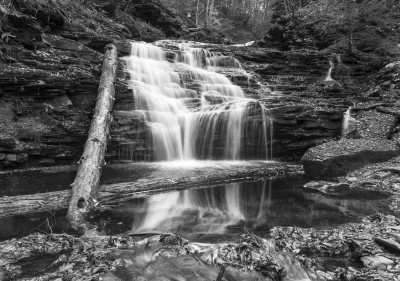 Mohican Falls With Reflection