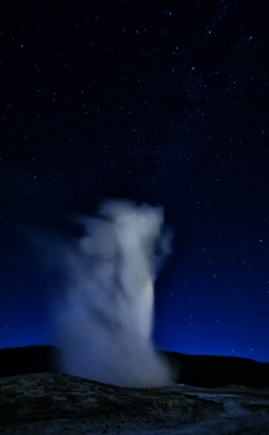 Old Faithful And The Milky Way