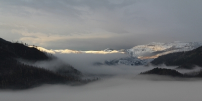 Fog Over The Papoose Fire Site