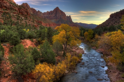 Fall At Zions National Park