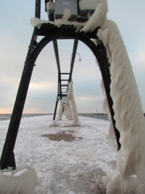 Ice Formation On South Haven Pier