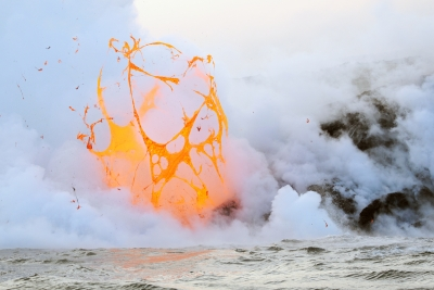 Lava Bubble Explosion
