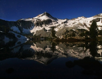 Moonlit Glacier Lake