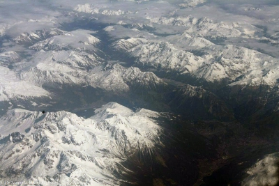 Flying Over Alps