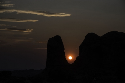 Sunset At Arches Np