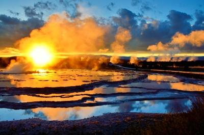 Geyser Basin Reflection