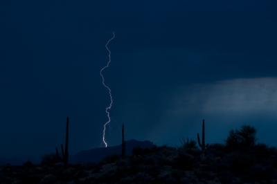 Lightning In The Sonoran Desert