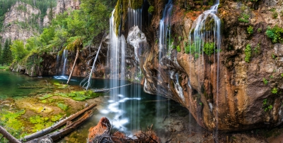 The Waterfalls Of Hanging Lake