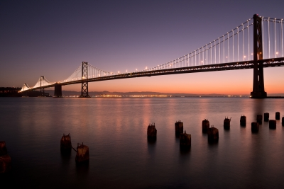 San Francisco Bay Bridge At Sunrise