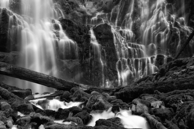 Proxy Falls In Black & White