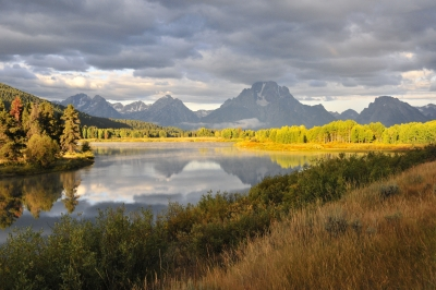 Morning Light At Oxbow Bend
