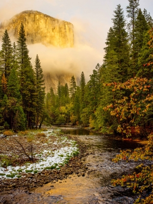 Glowing El Capitan, Yosemite National Park, California