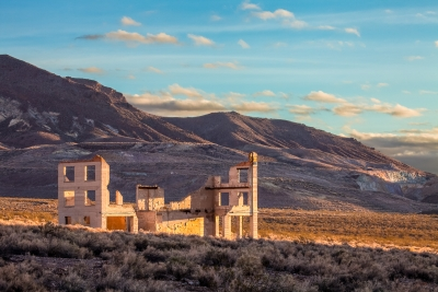Warm Sweet Light On Rhyolite