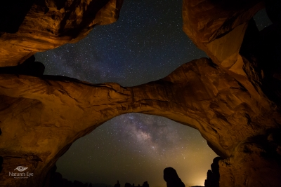 Double Arch Milky Way Arches National Park