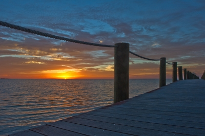 Sunrise Over Long Pier – Sugarloaf Key, Florida