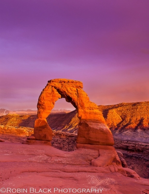 Stormy Sunset, Delicate Arch