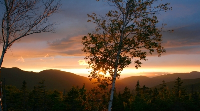 Sunset From Kancamagus Pass, White Mtns., Nh, August 22