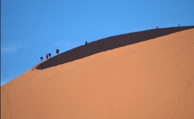 On The Edge Of Desert And Sky