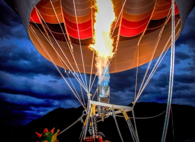 Tethered Hot Air Balloon At Cmr