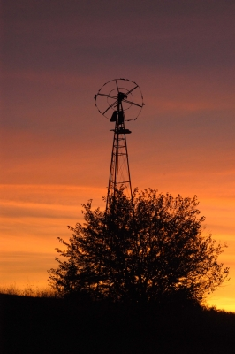 Old Windmill At Sunrise