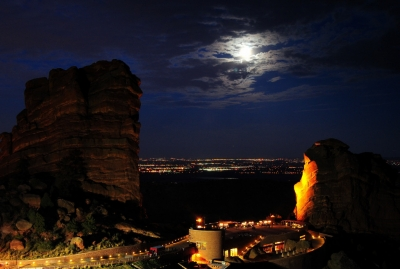 Red Rocks Moonrise Iii
