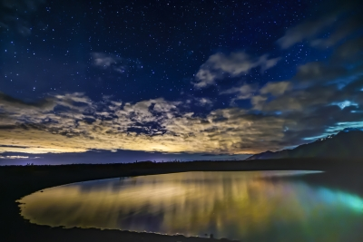 Sunset Clouds And Stars