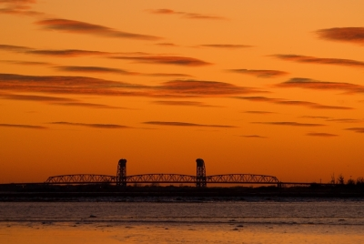 Sunset Over The Gil Hodges Memorial Bridge