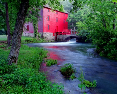 Red Mill From Downstream