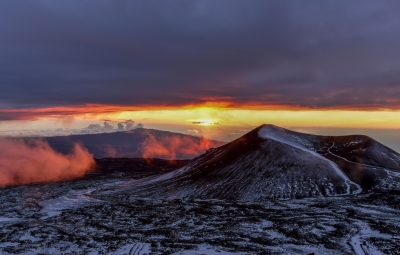 Mauna Kea Summit Sunset