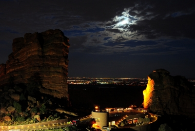 Red Rocks Moonrise Iv