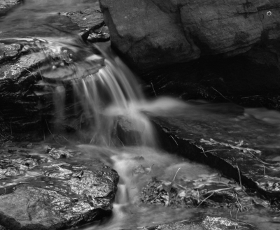 Waterfall In B/w