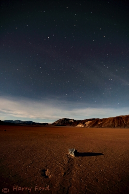 Magical Parched Earth With Moonlight And Stars
