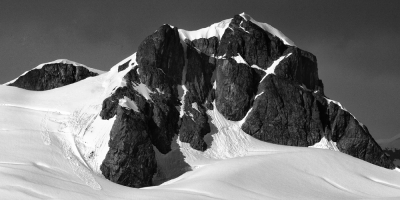 Mountain Peak B&w