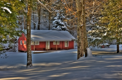 Hunting Camp In Winter – Tioga County, Pa
