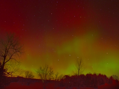 Big Dipper In The Northern Lights