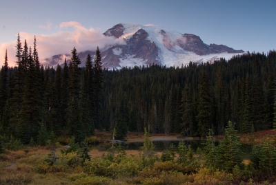 Sunset At Mount Rainier