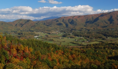 Fall Colors In The Great Smoky Mountain Sunset