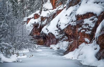 Canyon Winter Scene