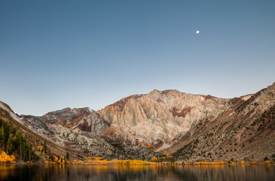 Moon Setting Over Convict Lake