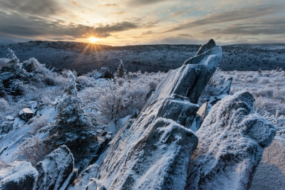 Frozen Virginia Highlands