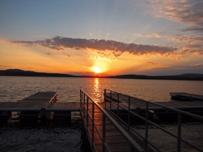 Sunset Over Tupper Lake