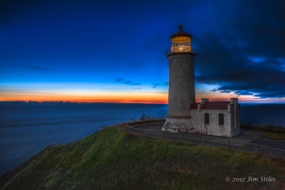 North Head Lighthouse At Twilight