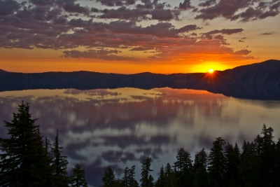 Sunrise At  Crater Lake