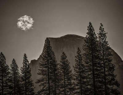 Cloud Over Half Dome