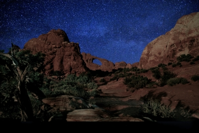 Arches At Night