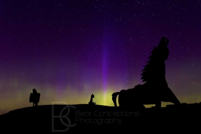 Horse Play In The Northern Lights – 2