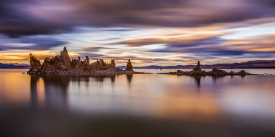 Sunset Storm Over The Mono Lake