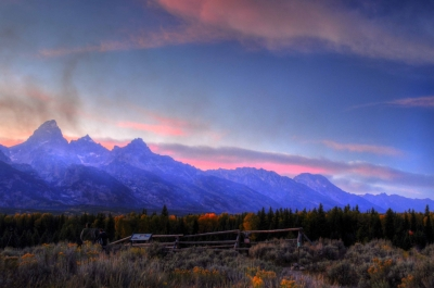 Grand Tetons At Dusk